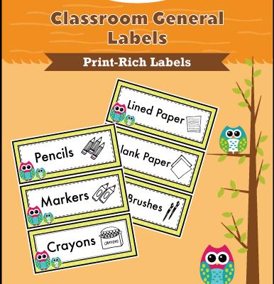 Classroom General Labels