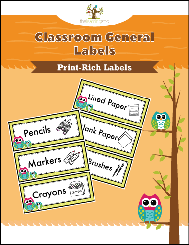 Classroom General Labels