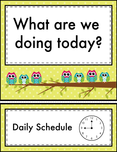 Labels-For-Daily-Schedule