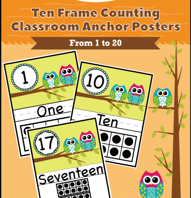 Ten Frame Counting Classroom Anchor Posters