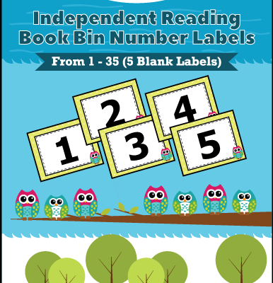 Classroom Student Independent Reader Book Bin Number Labels