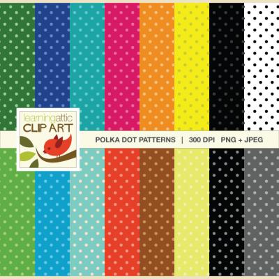 Polka Dot Digital Papers Download