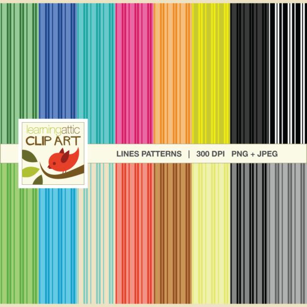Various Lines Digital Papers