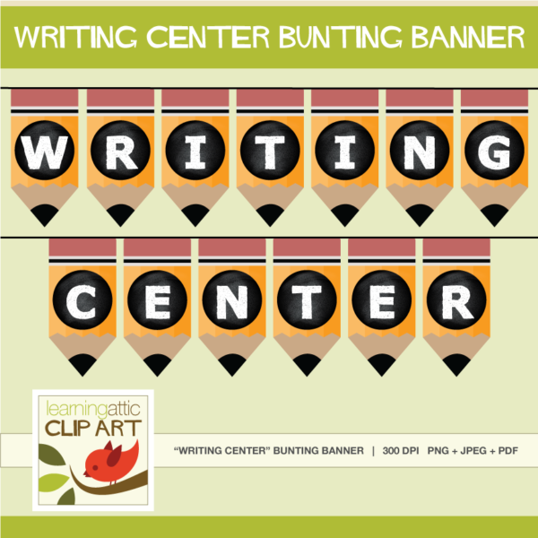 Writing Center Bunting Banner