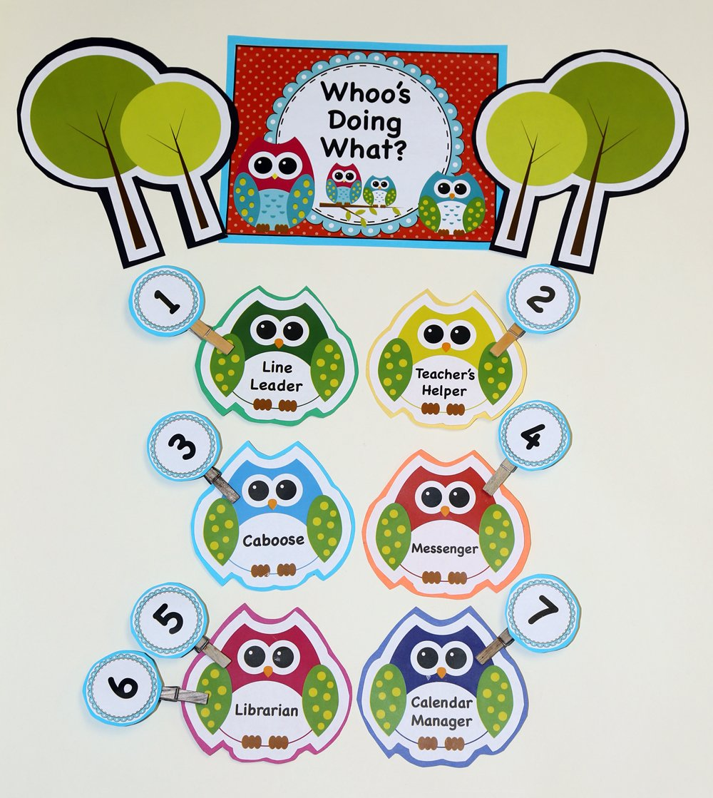 Classroom Decor And Learning ~ Bright owl themed classroom decor mega bundle learning