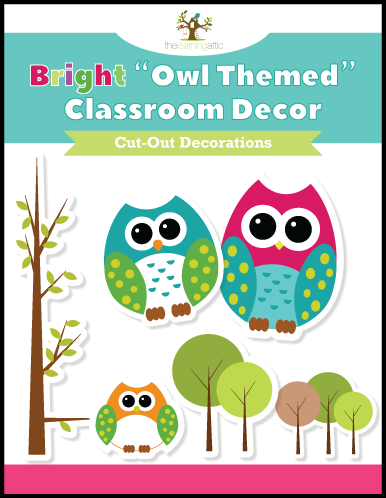 Owl Themed Cut-Out Decorations