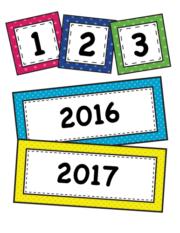 Bright Polka Dot Calendar Set