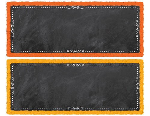 Chalkboard Editable Desk Nameplates