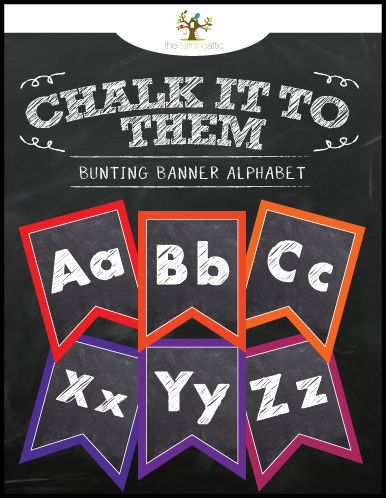 Chalkboard Bunting Banner Alphabet