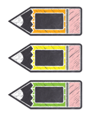 Chalkboard Editable Classroom Labels Rainbow Colors