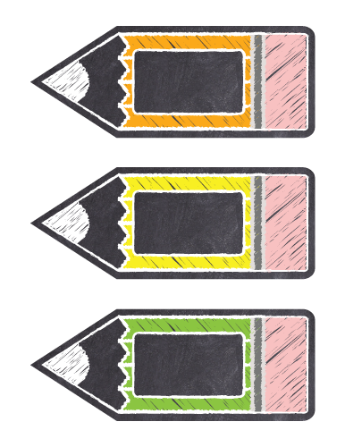 Chalkboard Editable Classroom Labels Rainbow Colors