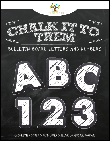 Chalkboard Theme Letters and Numbers