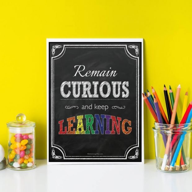 Inspirational Posters - Remain Curious