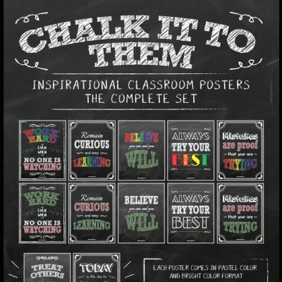 Chalkboard Inspirational Posters - Complete Bundle
