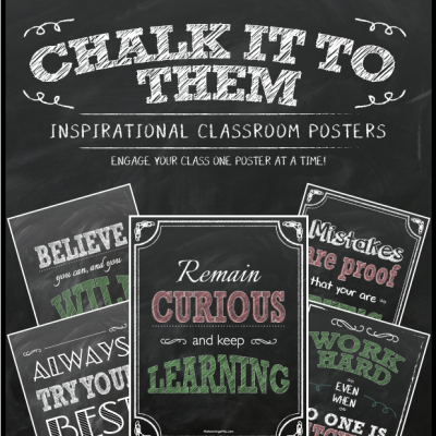 Chalkboard Inspirational Posters in Pastel