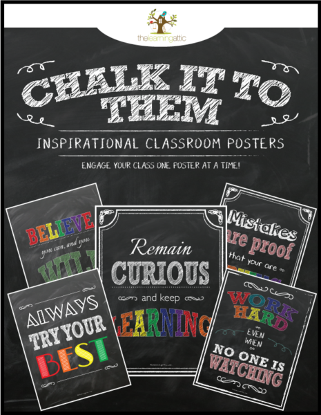 Chalkboard Inspirational Posters in Bright Colors