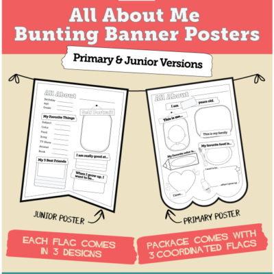 All About Me Bunting Banner Package