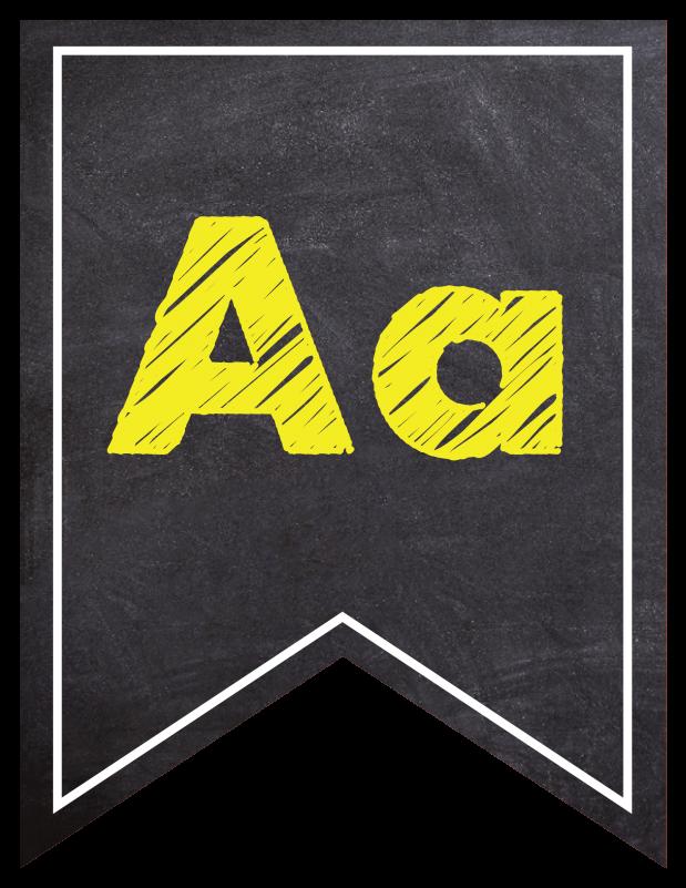 Chalkboard Letters Numbers Banner Neon
