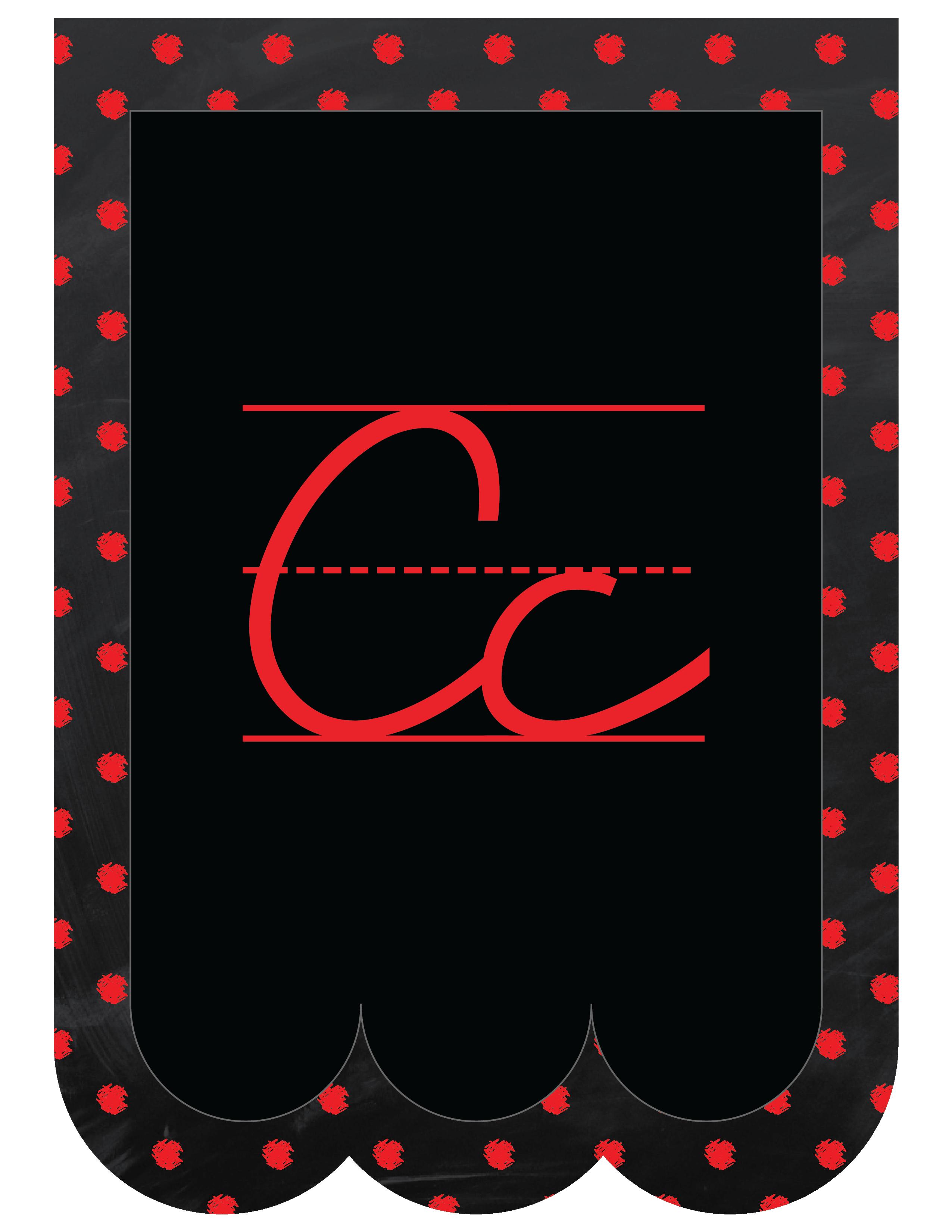 Classroom Decor Pdf ~ Chalkboard bunting banner alphabet polka dot cursive